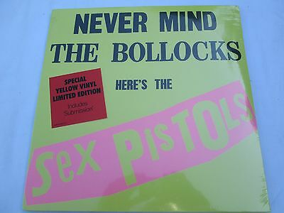 Sex Pistols*never Mind The Bollocks*ltd Edition Yellow Vinyl