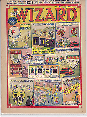 wizard comic golden age1952 2 copies post free uk only