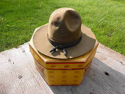 WW1 US Army Campaign hat, with hat box, used, original