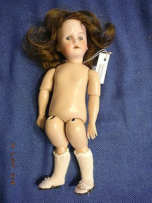 """9 1/2"""" German Bisque Head Doll with New Body -( Ifelder Possible )"""