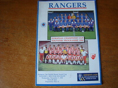 Rangers V Red Star Belgrade Nov 1990