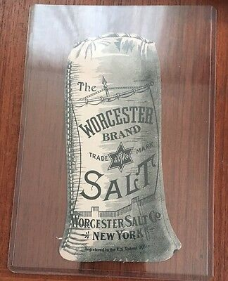 Antique The Worcester Brand Salt- Worcester Salt Co. Advertising Paper