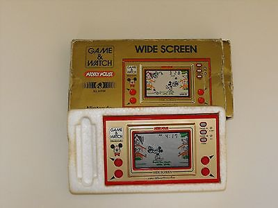 Nintendo Game&Watch Mickey Mouse 1981 Boite et notice .
