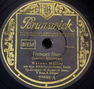 Schellackplatte Werner Müller RIAS Tanzorch. - Trumpet Blues - Hot Swing 1952