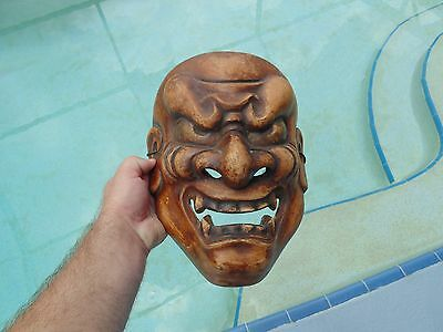 Old Japanese Theater Carved Signed Mask Wood ? Composite ?
