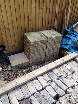 Used Patio Paving Slabs Cream Stone