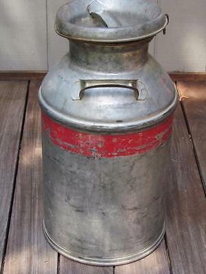 Vintage 10 Gallon  Milk Can  With Original Lid  Cdf Initials On Side    Nice!