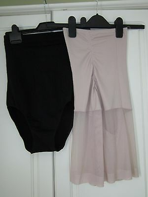Support Knickers. 1 Black 1 Beige Size 14 - 16