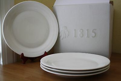 Royal Doulton 1815 Dinner Plates Set Of 4 Solid White New