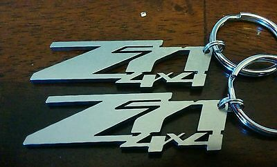 Chevrolet GMC Z71 4x4 laser cut stainless steel key chains