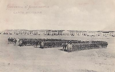 Turkey 1910 - 1915  Vintage Postcard Of Edirne Military Unit