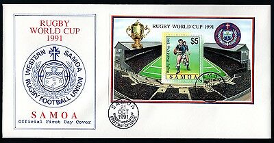 Samoa 1991 FDC MS Rugby World Cup