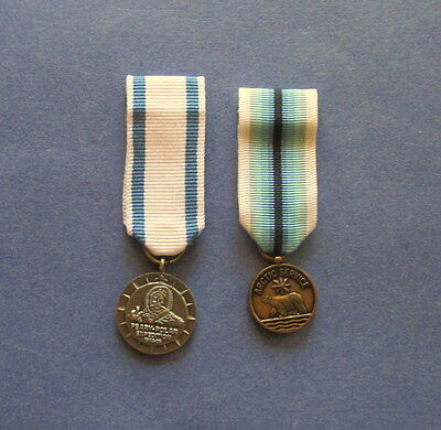 Scarce Miniature Peary Arctic Expedition and Arctic Service Medals