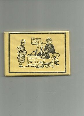 early 1900's advertising  pocket mirror comical pregnant woman RISQUE??