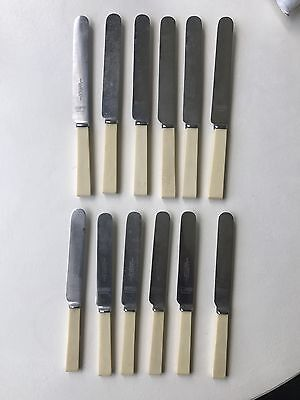 12 Vintage Stainless Steel BUTTER KNIVES Made in Sheffield JG Graves