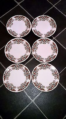 Set of 6 vintage Colclough bone china tea plates Royale pattern. Exellent cond