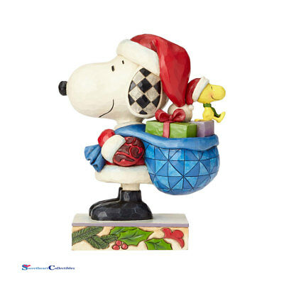 Jim Shore Peanuts 4057672 Santa Snoopy and Woodstock 2017