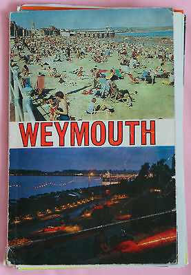 Vintage 1972 Guide To Weymouth With Map And A Vintage 1960's Aa Map