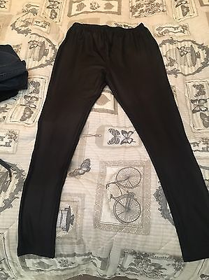 Shiny Maternity Leggings Over The Bump Size 10 New Look