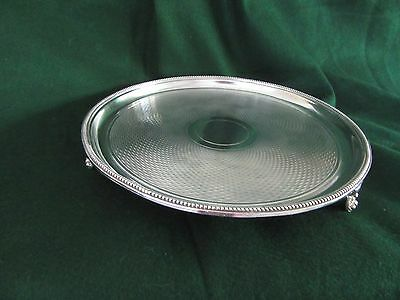 Antique/Vintage Silver Plated Salver/Tray~G.LTD.
