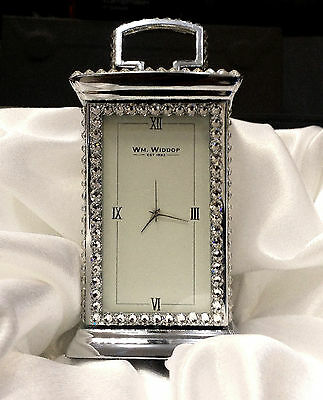 Mr And Mrs Carriage Clock Encrusted With Sparkly Swarovski Crystals