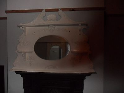 Huge Original Vintage Mirror  Overmantle  - 51 Inches X 39 Inches