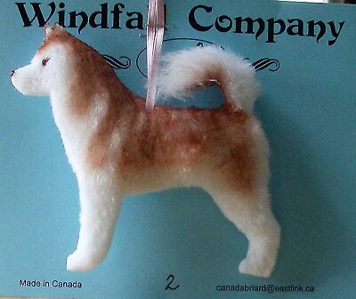 Alaskan Malamute Dog Soft Plush Christmas Canine Ornament  # 2 by WC