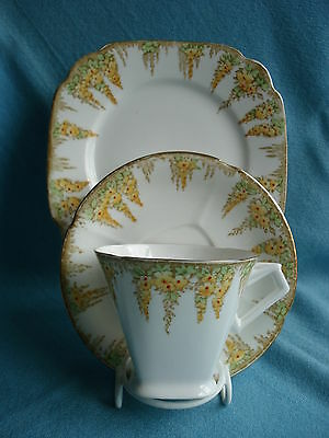 Lovely Standard China Vintage Bone China Tea Cup Saucer and Plate Trio