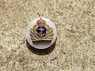 ROYAL NAVY Sweetheart Brooch with crown