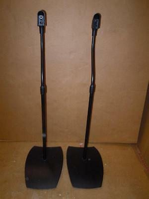 Alphason SS20 Black Adjustable Speaker Stands -Pair -from 78 to 115 cm.