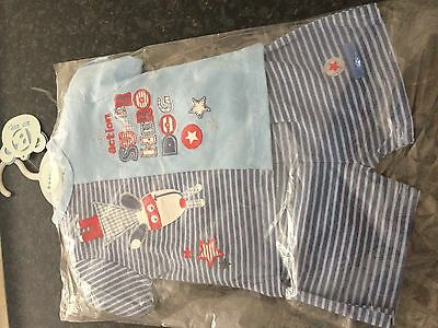 baby boys shorts and tshirt set age 0-3 months