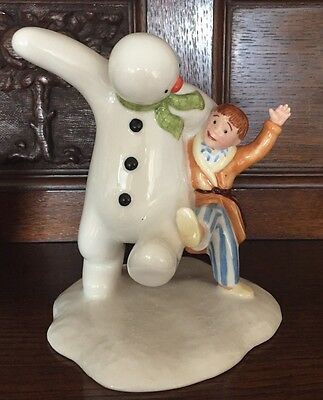 Royal Doulton SNOWMAN AND JAMES DANCING IN THE SNOW Limited Edition