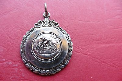 Antique Sterling Silver Cycling Fob Medal - Hallmarked Birmingham 1948