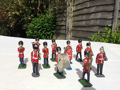 Metals soldiers , bandsmen , Hill & Co , vintage ? x 12