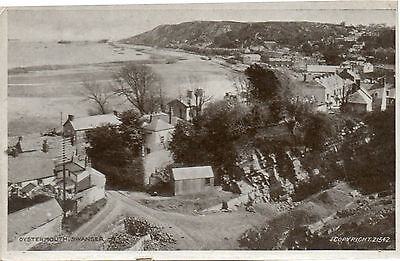 """""""OYSTERMOUTH, SWANSEA"""" OLD POSTCARD - PRINTED FOR PEACOCK'S of SWANSEA"""