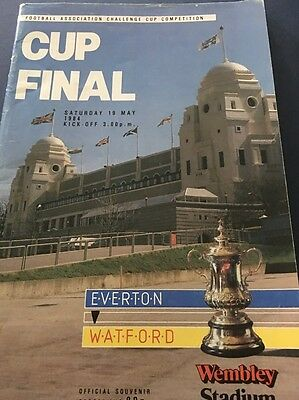 FA Cup Final Programme 1984 Everton V Watford