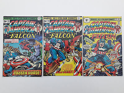 CAPTAIN AMERICA #194, 196 & 197, 1976, VG+ 4.5, written & drawn by Jack Kirby