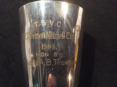 GUNNERY PRESENTATION CUP Made By Mappin & Webb 1904, 2ND LIEUTENANT A B THOMPSON