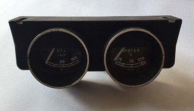 Set of 2 classic Smiths gauges Mini MGB Triumph Mga Land Rover Oil Pressure Temp