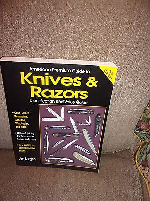 Knives & Razors Identification and Value Guide by Jim Sargent EXC