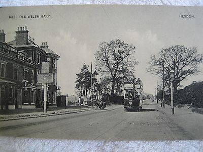 Middlesex:  Old Welsh Harp,  Hendon.  Postally Used In 1906.