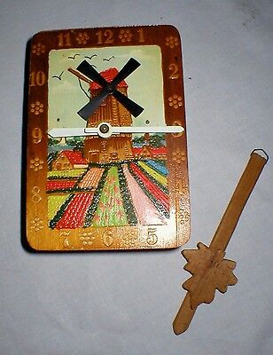 Vintage Cuckoo Type Windmill Clock For Repair Or Parts, Missing Weights!