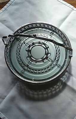 Vintage 9 inch chrome cake stand