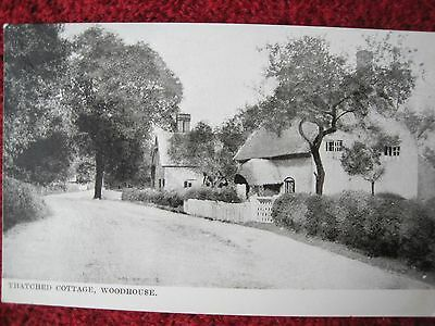 Leicestershire:  Thatched Cottage, Woodhouse.   Old Postcard.