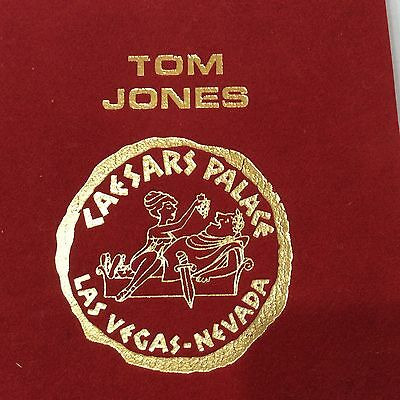 1970's Tom Jones caesars palace las vegas red velvet programme