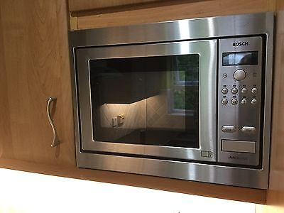 Bosch HMT9656GB Built-In Microwave Oven - Brushed Steel