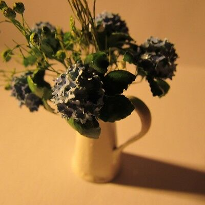 Artisan made hydrangeas in vase ~ Doll house miniature ~1 twelfth