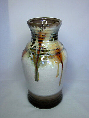 Vintage Bay Keramik Drip Glaze Vase 630-2 - West Germany Pottery