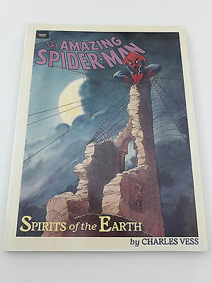 AMAZING SPIDER-MAN: SPIRITS OF THE EARTH HC GN, 1990, VF/NM 9.0, Charles Vess