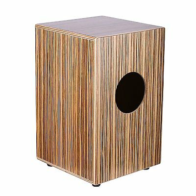 "Neewer® Percussion 9"" x 9"" x 14""/23 x 23 x 36cm Zebrawood Cajon with Internal"